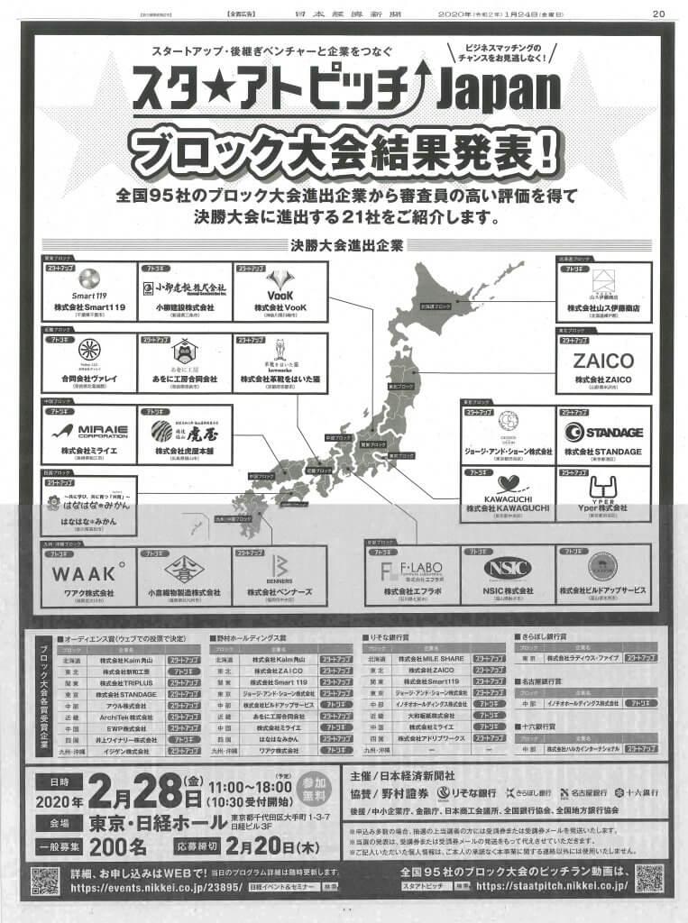 日経新聞20面
